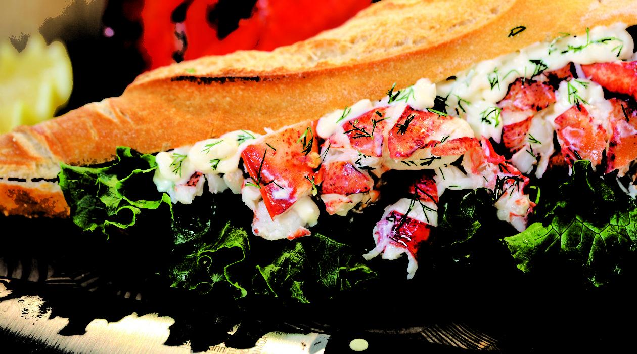 Nova Scotia Lobster Roll delicious and succulent
