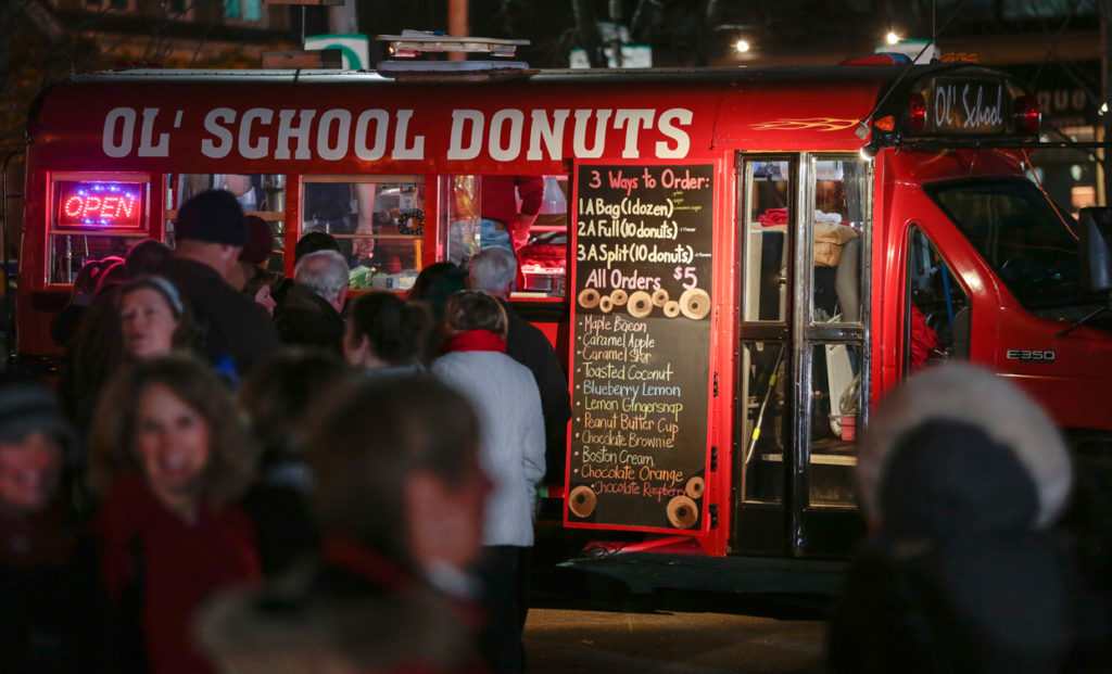 Ol' School Donuts truck in Nova Scotia