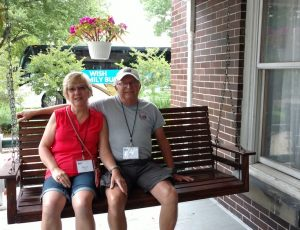 Ah, summertime on the front porch swing! Warther homestead by the museum.